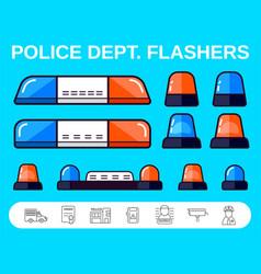 set special flashers emergency dept vector image