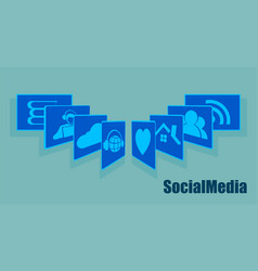 sign the card fan social networking recruitment vector image