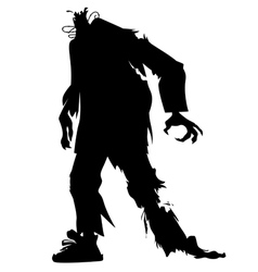 silhouette a zombie without a head vector image