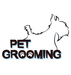 Silhouettes dogs for grooming pets vector