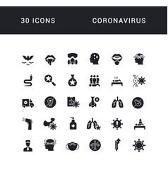 simple icons coronavirus vector image