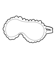 sleeping mask icon outline style vector image