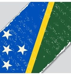 Solomon Islands grunge flag vector image