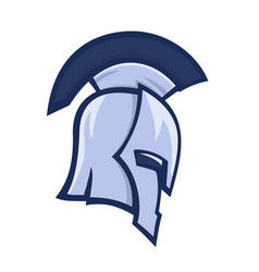 Spartan helmet greek warrior logo element vector