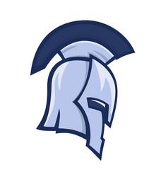 Spartan helmet greek warrior logo element vector