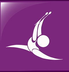 Sport icon for gymnastics with sticks vector image