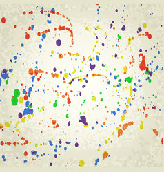 Spots and splashes of paint vector