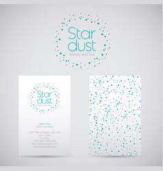 Stardust silver stars logo vector