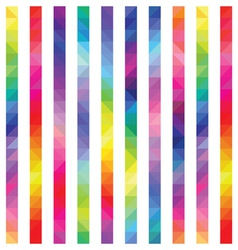 Strips from color triangles a seamless pattern vector