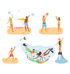 summer vacation holiday people seaside vector image