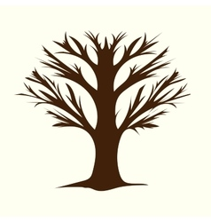 Tree without leaves terrible branches vector