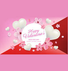 valentines day sale background vector image