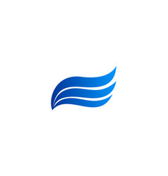 wave air flow logo vector image