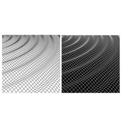 Waves distortion shape in space vector