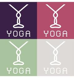 Yoga monogram vector