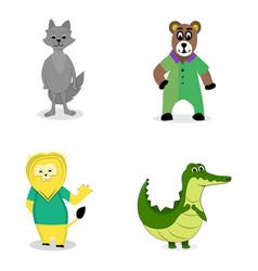 characters predatory animals vector image
