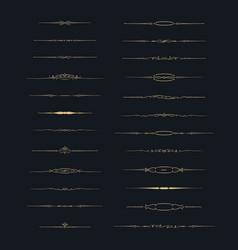 dividers set set of calligraphic design elements vector image vector image
