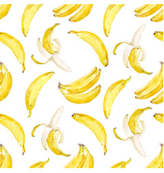 watercolor banana pattern vector image vector image