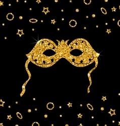 Golden Shimmering Carnival Mask vector image vector image