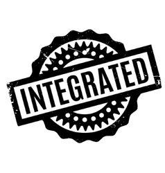 Integrated rubber stamp vector