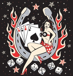 Lady Luck vector image