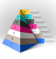 Layered pyramid steps design element vector image vector image