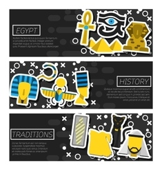 Set of Horizontal Banners about Egypt vector image vector image
