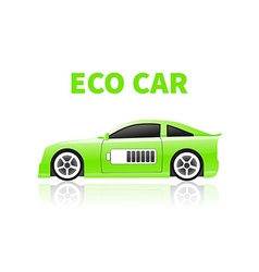 Silhouettes eco car vector image vector image