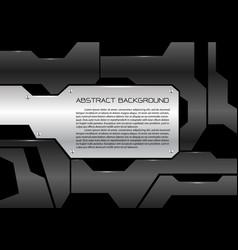 abstract metal sheet gray futuristic vector image