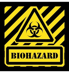 biohazard sign yellow and black vector image