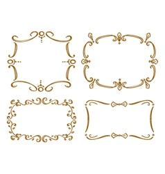 set of doodle frame vector image