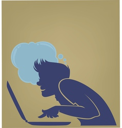 young computer user vector image