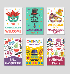 banners or cards set with of funny vector image vector image