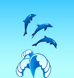 Dolphins 02 vector image vector image