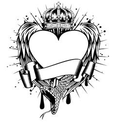 heart wings corona vector image