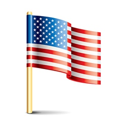 object usa flag vector image vector image