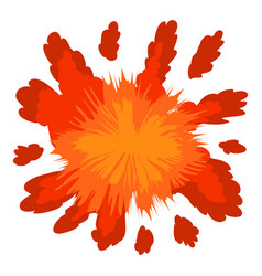red explosion icon cartoon style vector image