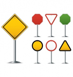 traffic sign set vector image vector image