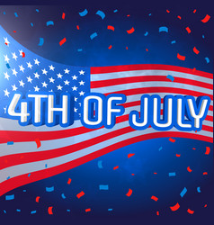 4th july celebration background with confetti vector image