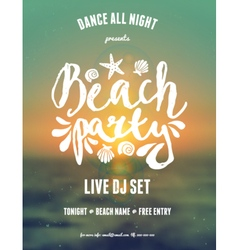 abstract design gradient mesh beach party flyer vector image