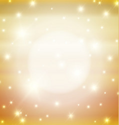 Abstract Golden Background With Lights vector image