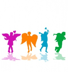 Angels playing vector image