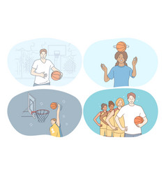 basketball sport team competition concept vector image