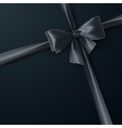 black bow and ribbon vector image