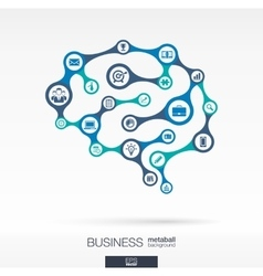 Brain concept for business vector