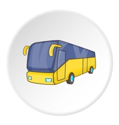 Bus icon isometric style vector