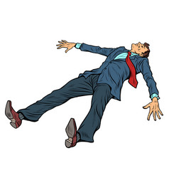 Businessman in a suit is resting fatigue from vector