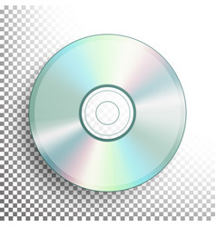 Cd dvd disc realistic compact disc vector