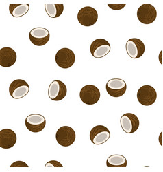 coconut seamless pattern vector image