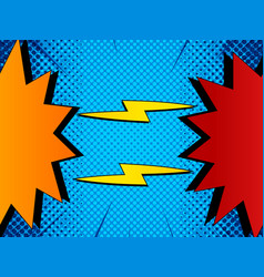 comic rivalry colorful concept vector image